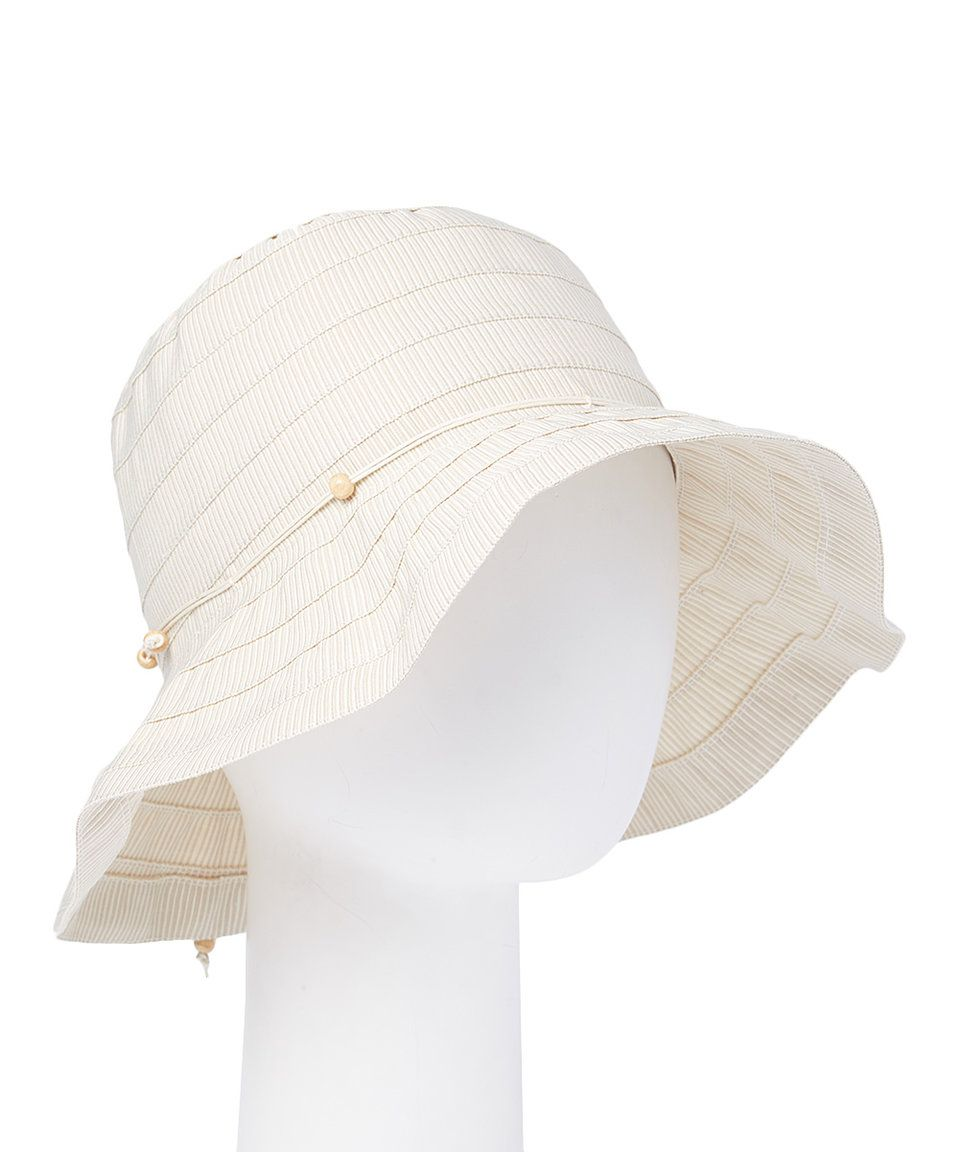 31c8664554c Take a look at this Jeanne Simmons Accessories Cream Flower Bucket Hat  today!