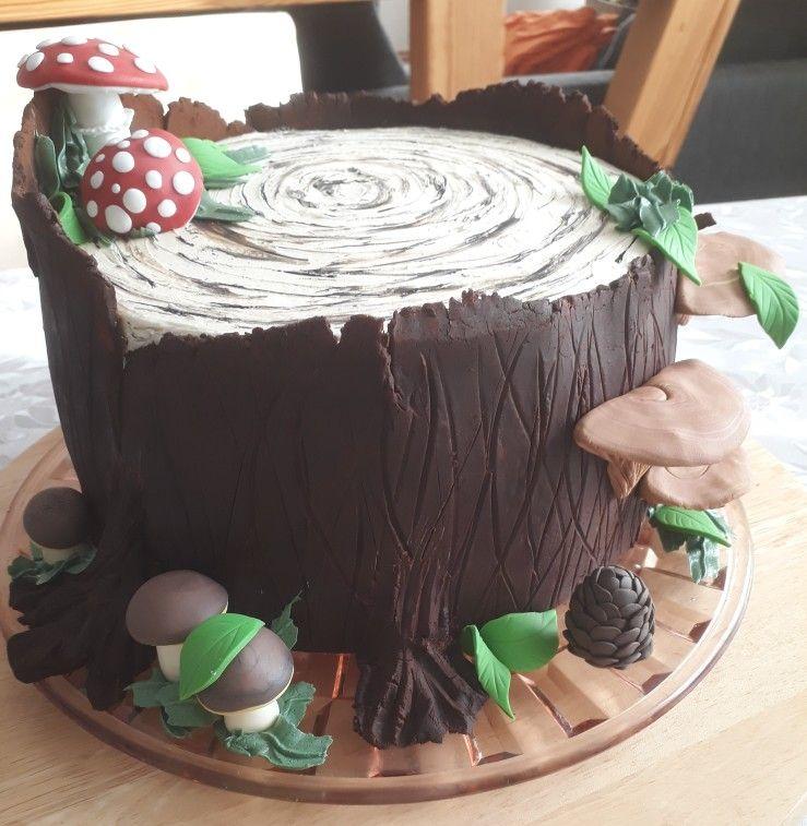 Baumstumpf Torte Torten Baumstumpf 60er