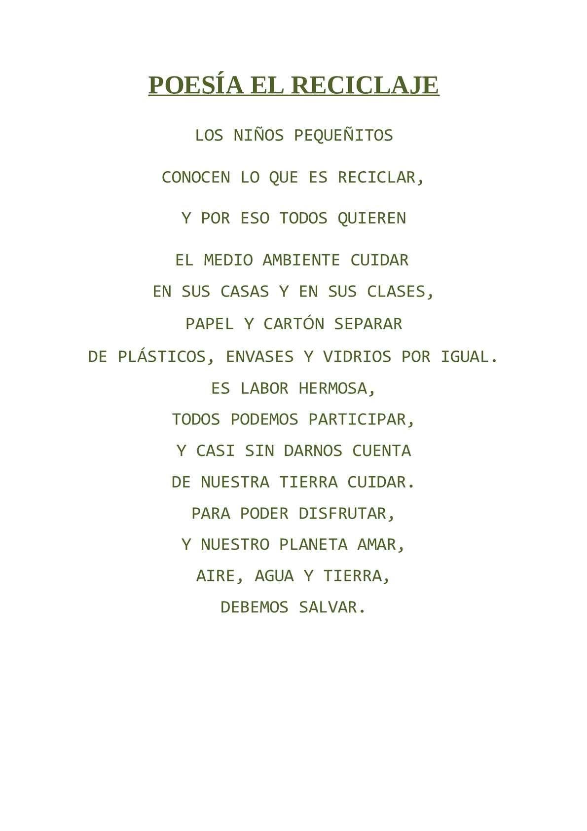 Poesía Medio Ambiente Buscar Con Google Medio Ambiente Y