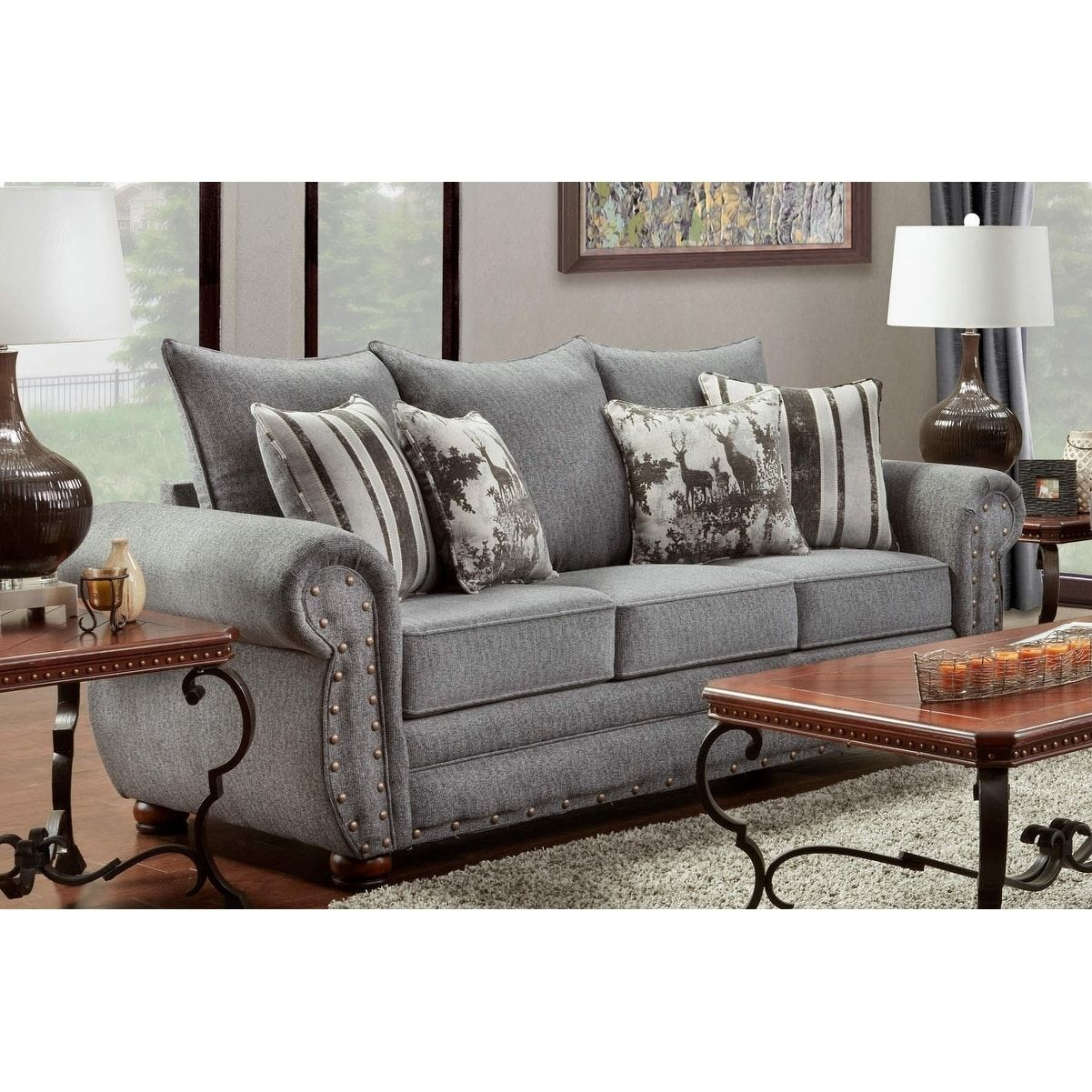 American Furniture Classics Model B3103 Erss Elk River Storm Sofa