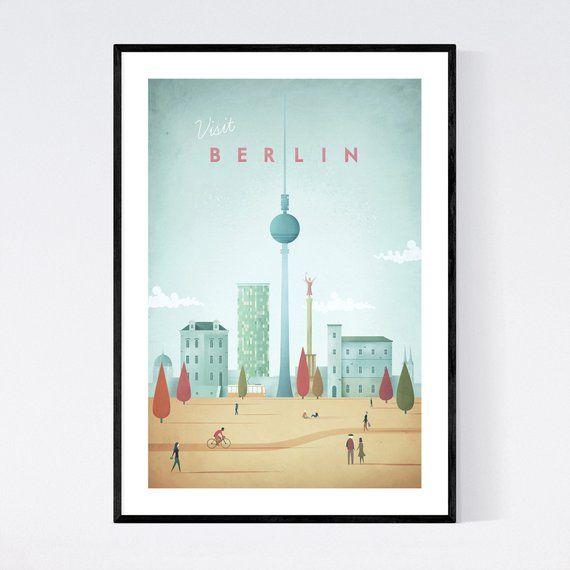 Berlin Poster Berlin Wall Art Berlin Print Berlin Art