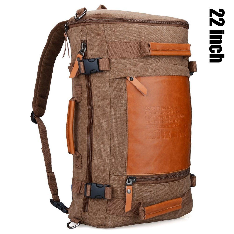 84424dff4f Men Vintage Canvas Rucksack Travel Duffel Backpack Retro Hiking Bag ...