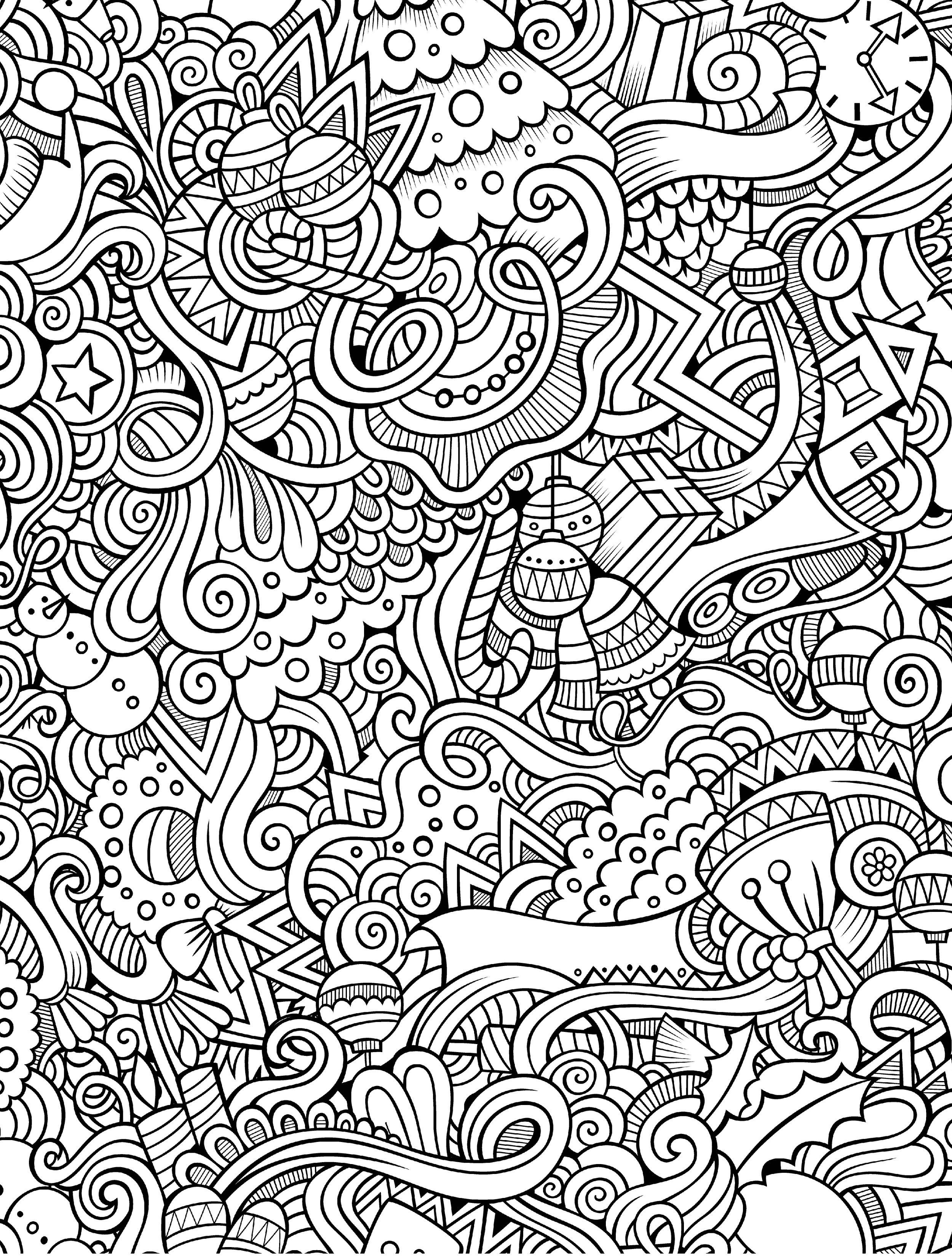 10 Free Printable Holiday Adult Coloring Pages | Adult coloring ...