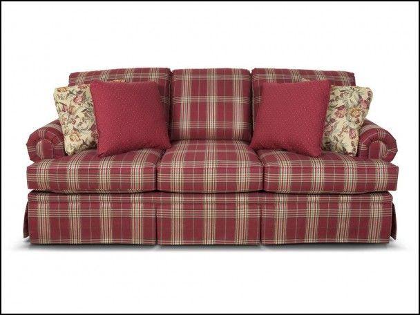 Red Plaid Sofa Plaid Living Room Plaid Sofa Country Sofas