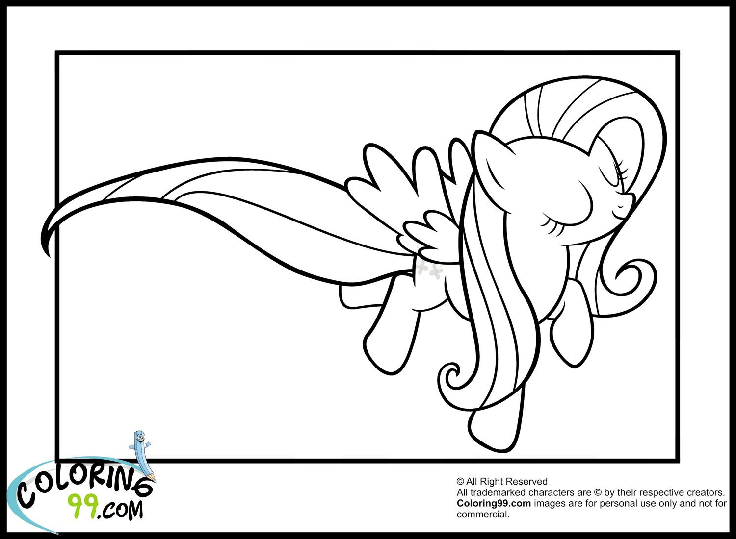flying-fluttershy-coloring-pages.jpg (1500×1100) | Coloring 4 Kids ...