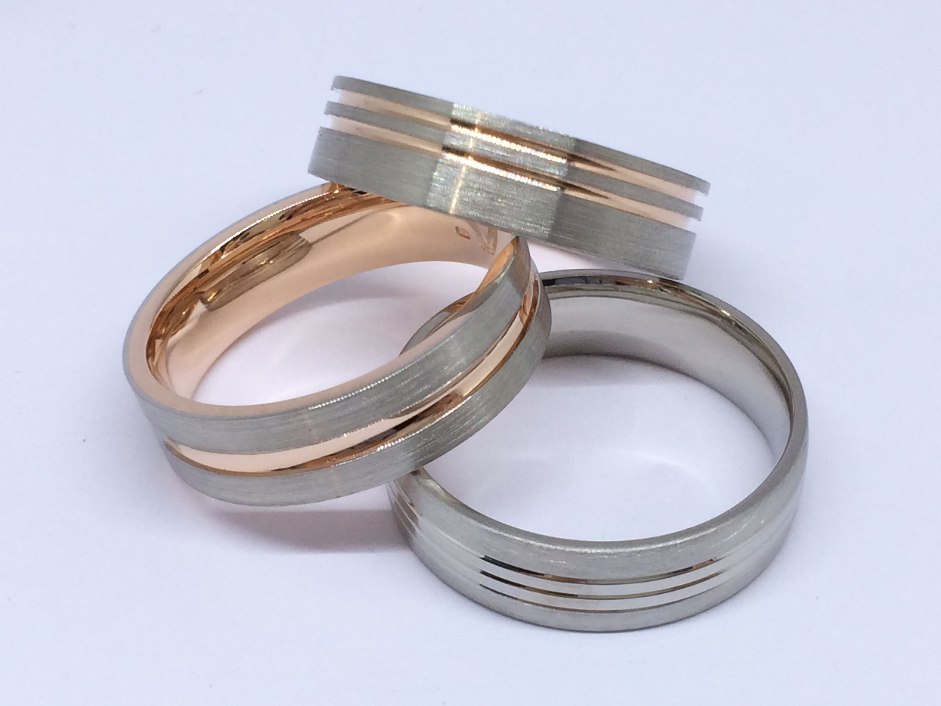 Palladium & Rose Gold Wedding Rings Palladium RoseGold Wedding