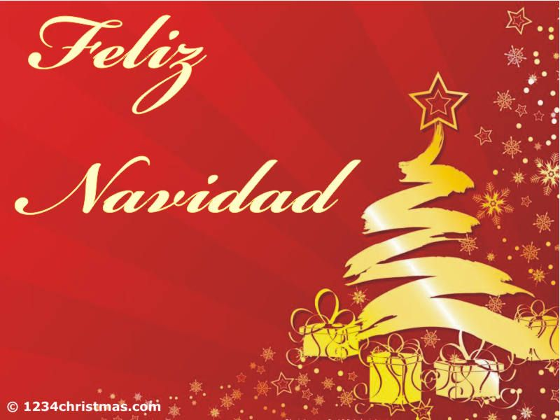 Feliz Navidad Greeting Card Christmas Spanish Greetings