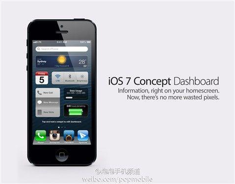 ios7概念设计图曝光 支持添加小插件 未名空间 mitbbs com ios 7 ios apple ios