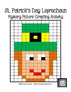 St PatrickS Day Math Leprechaun Mystery Picture Graphing