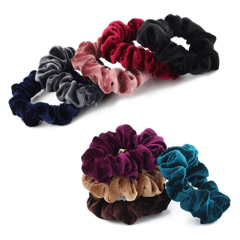 Apparel Accessories 5pcs Women Flower Solid Elastic Hair Bands Ponytail Holder Scrunchies Beads Tie Hair Rubber Band Headband Lady Hair Accessories