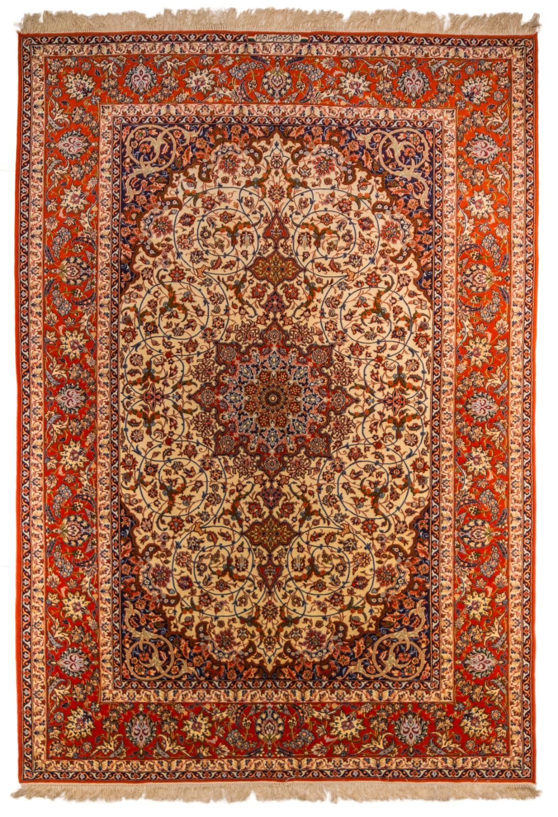 An Isfahan Wool With Silk Classic Design Carpet Knots 700 000 Knot M2 Approximately Dimensions 301 X 199 Cm Approxi Fine Rugs Knotted Carpet Rugs And Carpet
