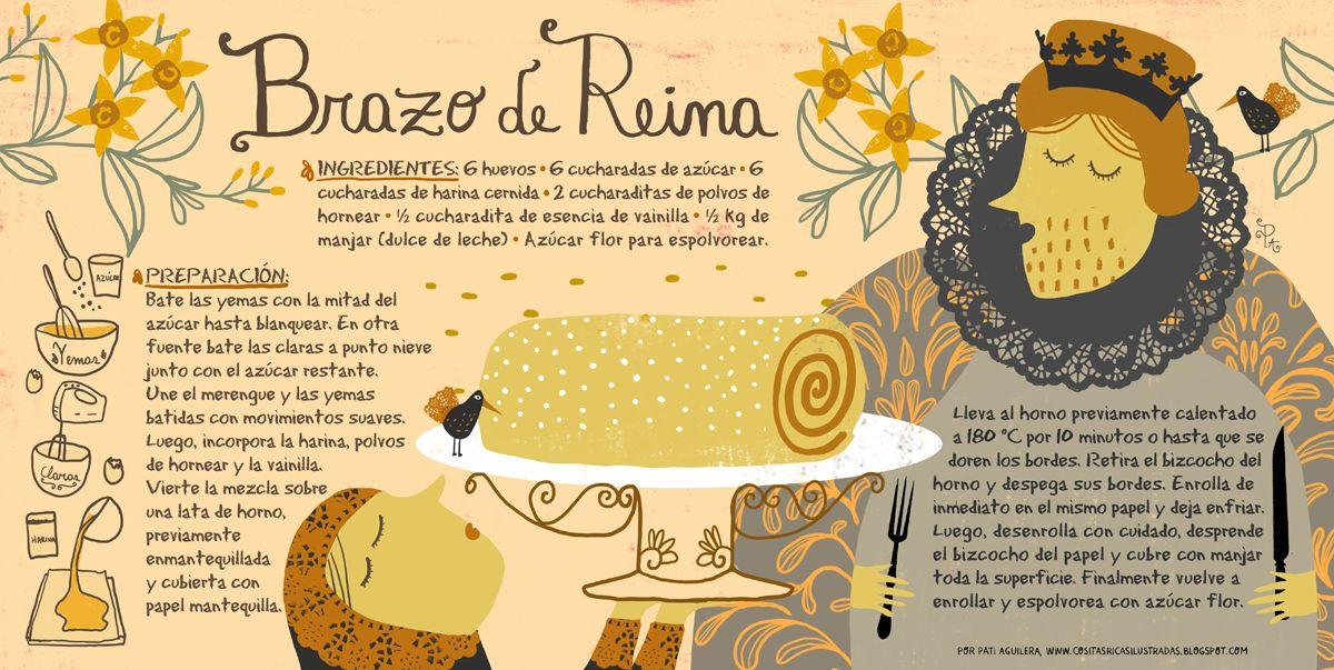 Brazo de Reina Brazo de reina, Recetas, Receta ilustrada