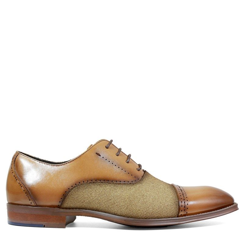 be4500538 Stacy Adams Men's Barrington Memory Foam Cap Toe Oxford Shoes (Tan Leather)