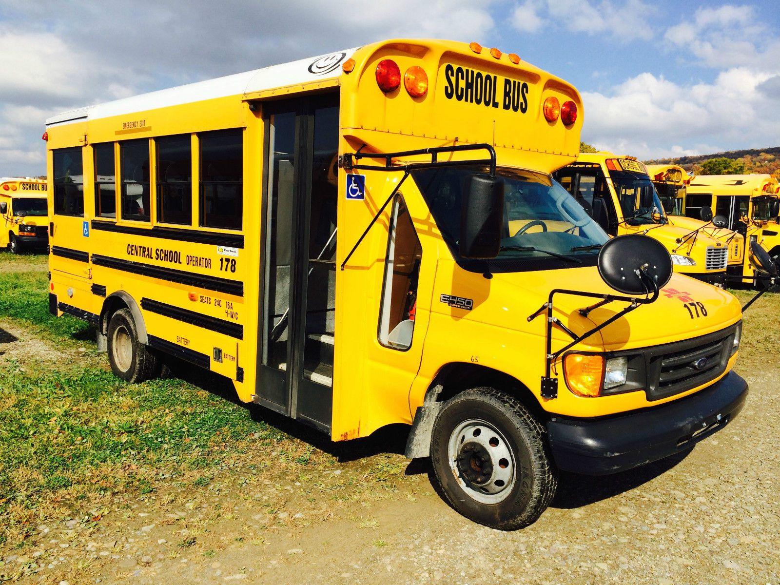 2004 Ford Corbeil WC Lift School Bus Air Cond DRW Diesel