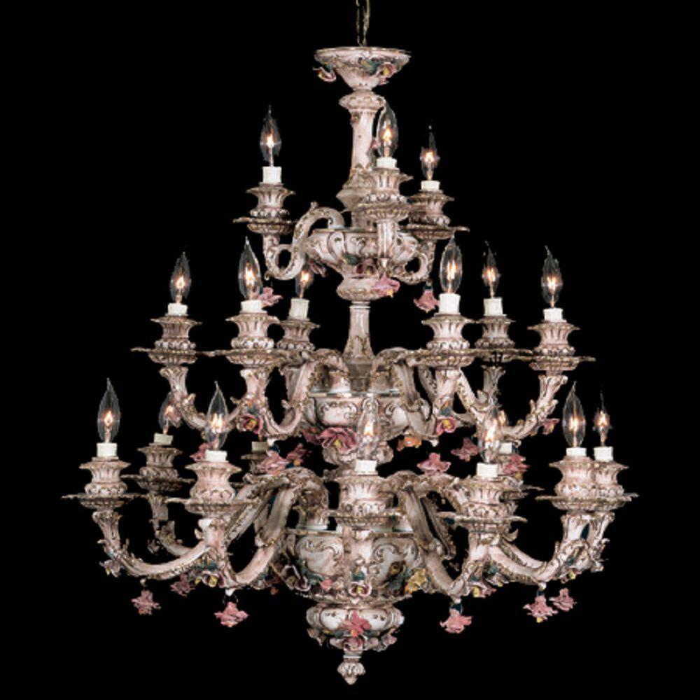 Capodimonte italian porcelain chandelier 18 lights new brown capodimonte italian porcelain chandelier 18 lights new brown gold finish arubaitofo Gallery