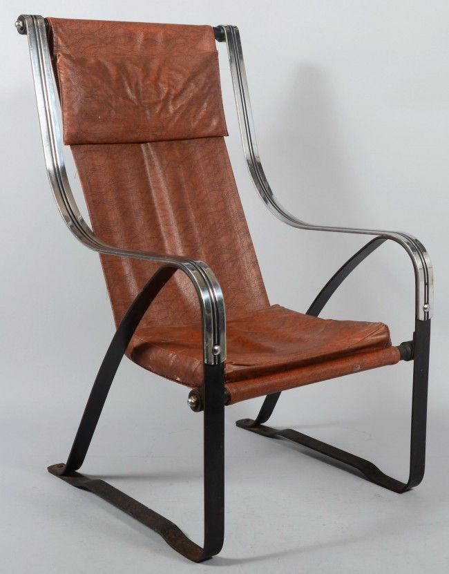 McKay Craft Furniture Art Deco Spring Frame Lounge Chair, Chrome Plated And  Painted Band Steel