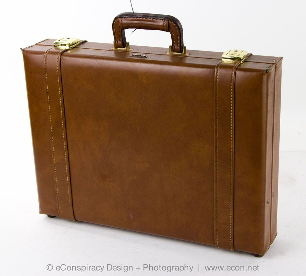 Stebco vintage deluxe brown leather executive attache case ...