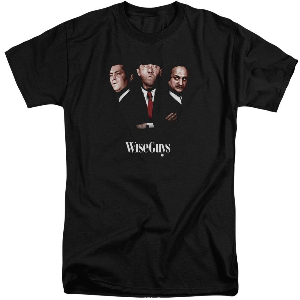 Three Stooges Tall TShirt Wise Guys Portrait Black Tee