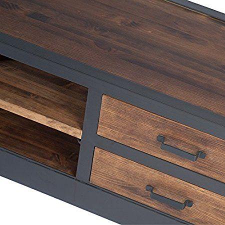indhouse - Mobile TV Loft in stile industriale in metallo e legno ...