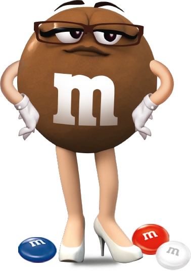 Ms Brown (With images) | M&m characters, Typography hand drawn ...