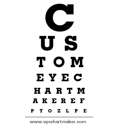 Custom Eye Chart Maker  TypographyPosters    Chart