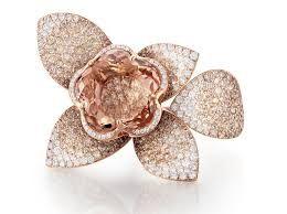 Pasquale Bruni ring in diamonds and morganite