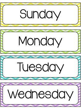 Insane image throughout printable days of the week labels
