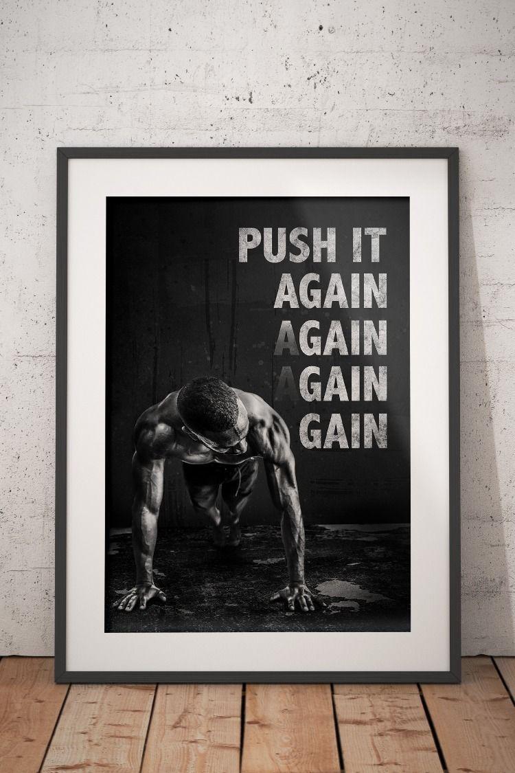 Fitness Motivational Home Decor