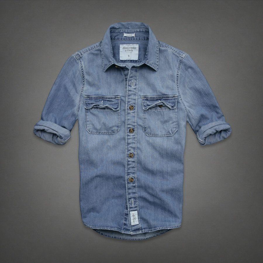 die besten 25 jeanshemd m nner ideen auf pinterest blaues jeanshemd l ssige mode f r m nner. Black Bedroom Furniture Sets. Home Design Ideas