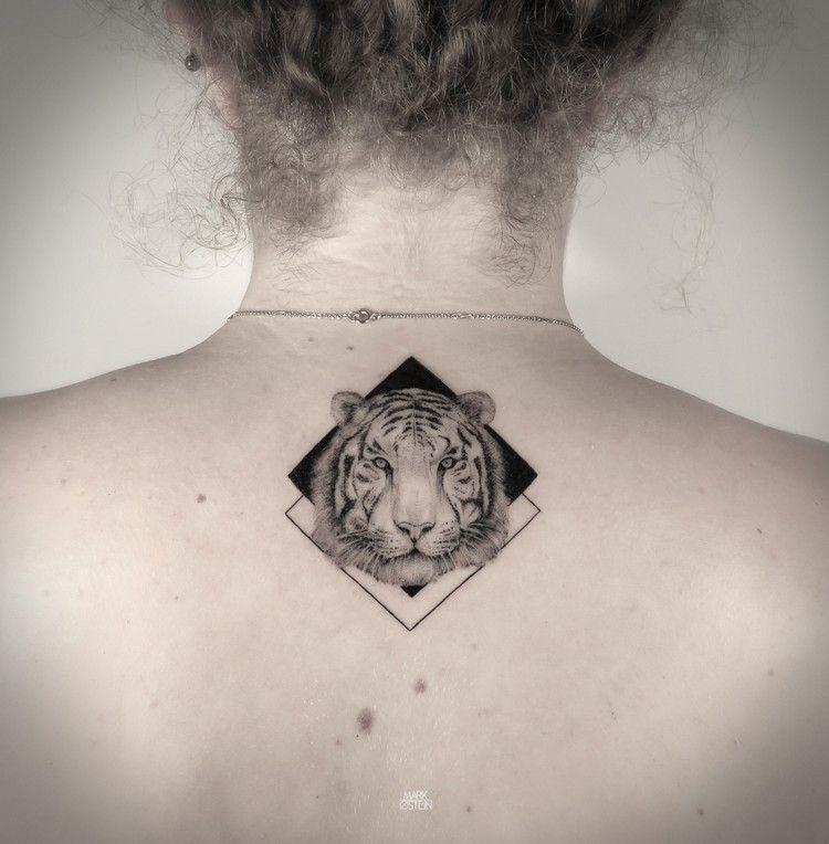 Tatouage Geometrique Femme Dos Tigre Tatouages Tattoo Tattoo