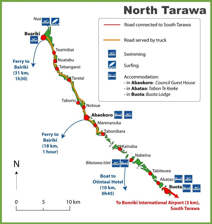 North Tarawa map Maps Pinterest