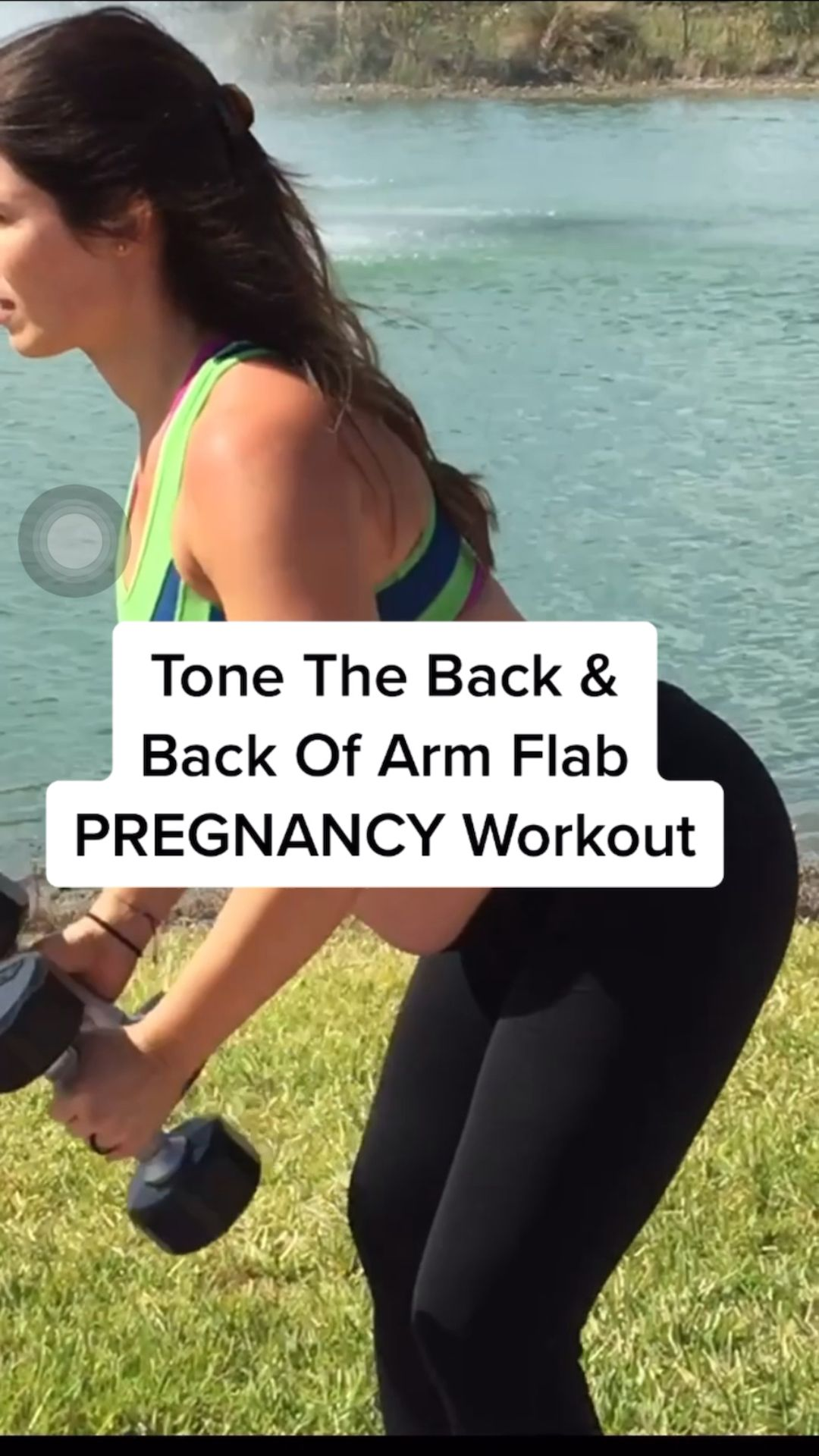 BACK & BACK OF ARMS At Home Pregnancy Workout