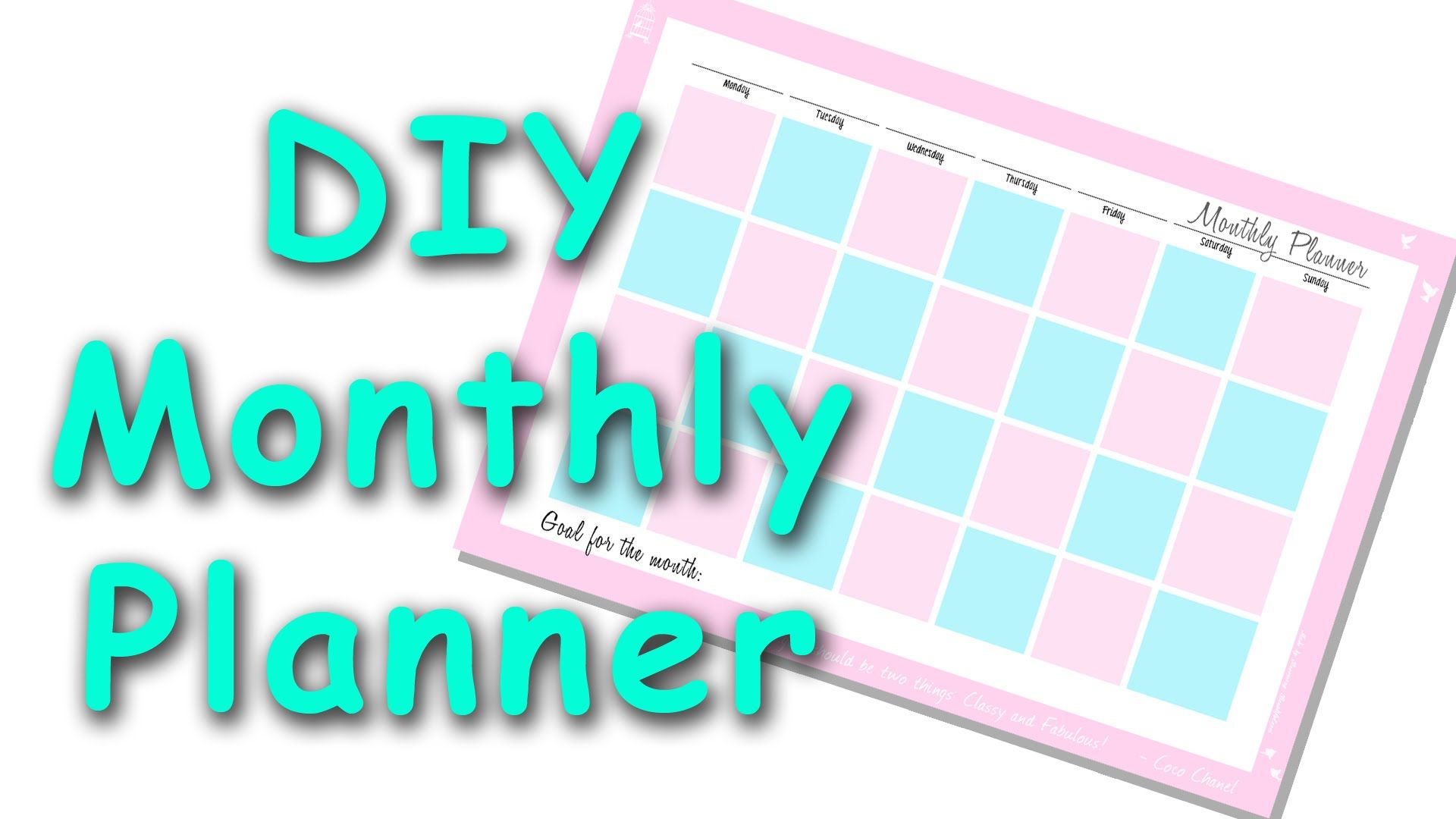 planner mensile da