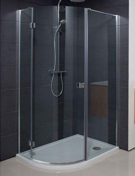 Design Single Door Offset Quadrant Enclosure 1000 X 800mm Shower Enclosure Quadrant Shower Shower Cubicles