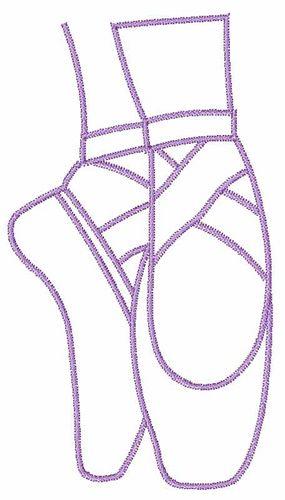 Ballet Pointe Shoes Embroidery Design Moldes De Bailarinas