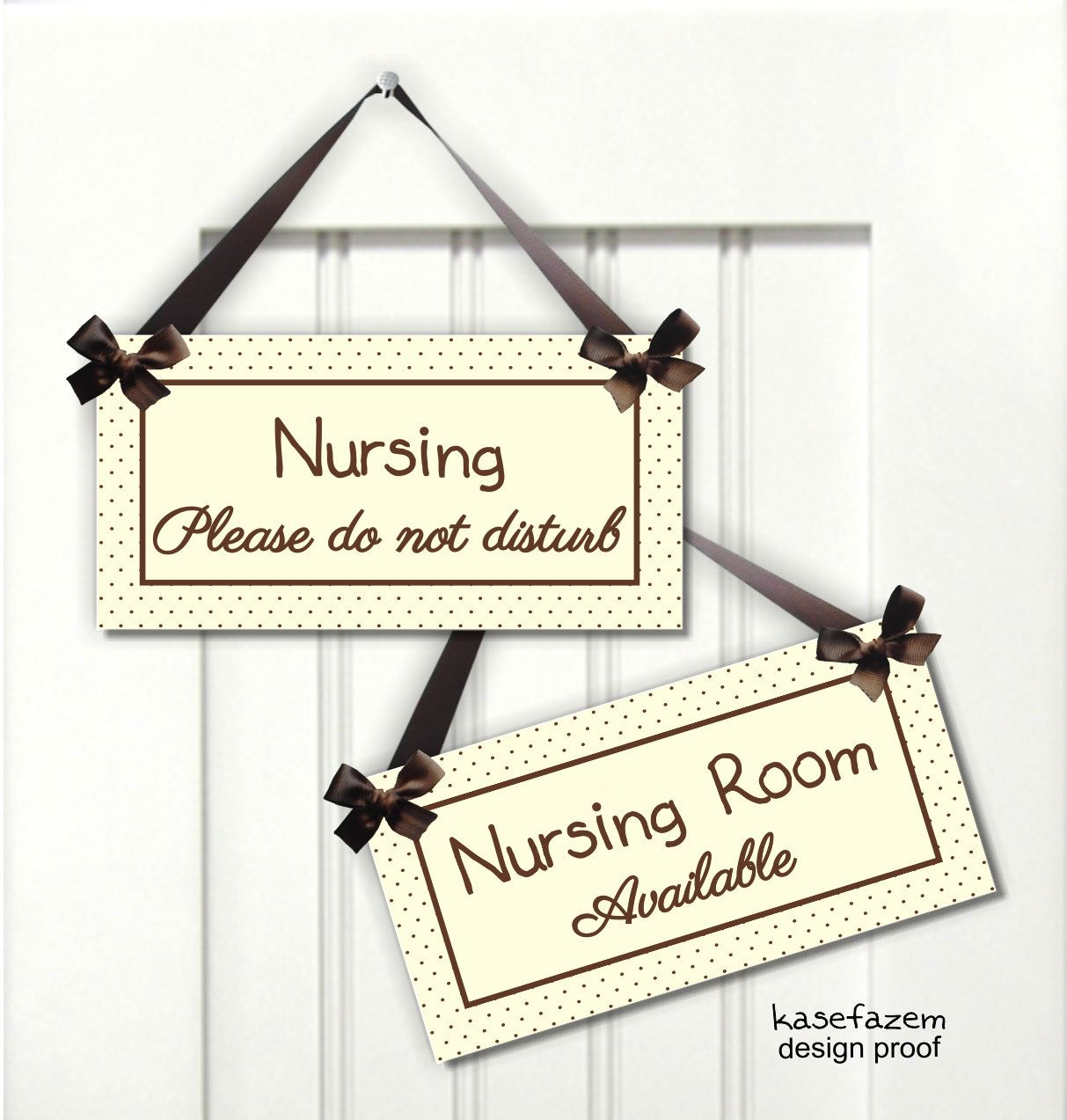 Boy Girl Neutral Color Nurse Doublesided Sign By Kasefazem