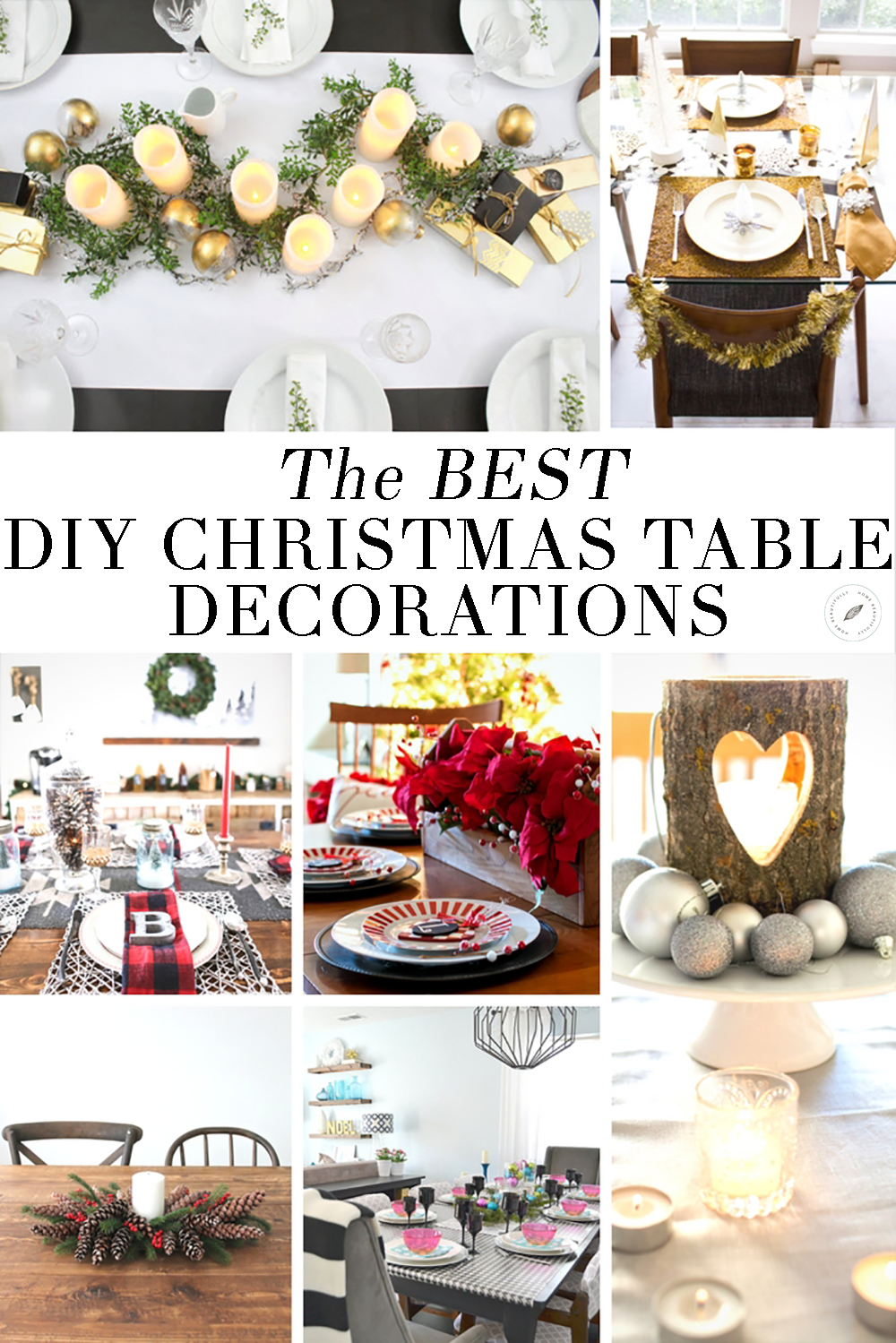 The best diy christmas table decorations mom blogs to follow diy christmas table decorations love decorating for the holidays these easy affordable do it yourself table and place settings will have your ideas and solutioingenieria Images