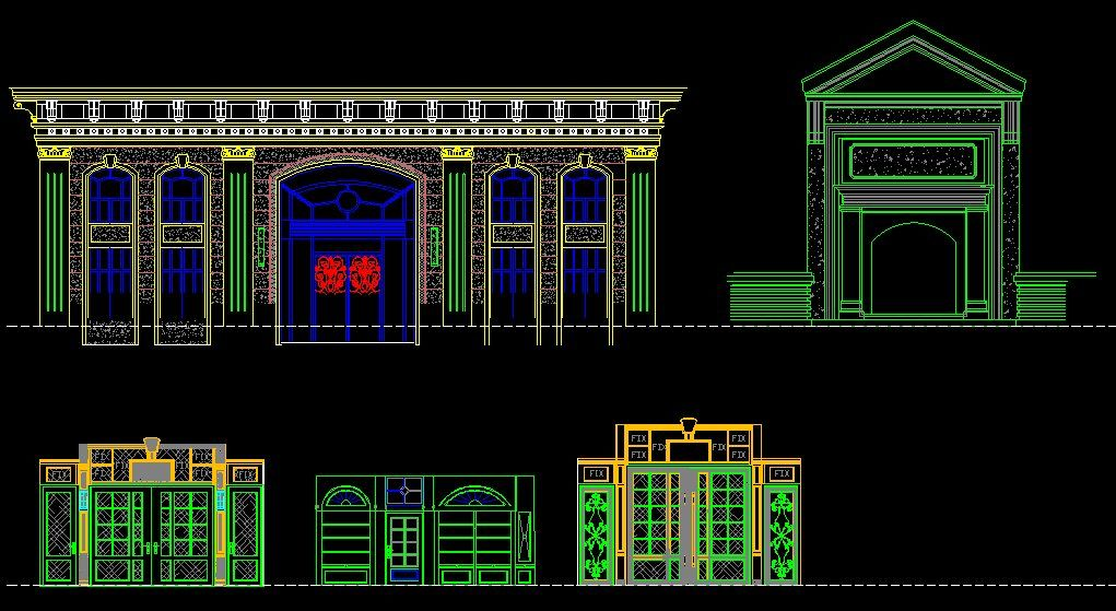 Entrance DesignCAD Library AutoCAD Blocks AutoCAD