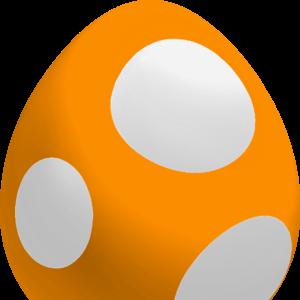 Yoshi Egg Yoshi Orange Baby Super Mario