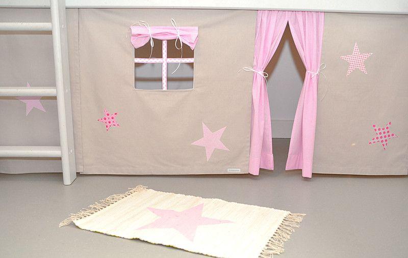 gardinen vorh nge sterne hochbettvorhang spielbett hochbett ein designerst ck von. Black Bedroom Furniture Sets. Home Design Ideas