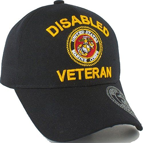 29585cd9edc3d US Marine Corps Disabled Veteran Shadow On Bill Adult Cap  Adjustable -  Black  Cultural