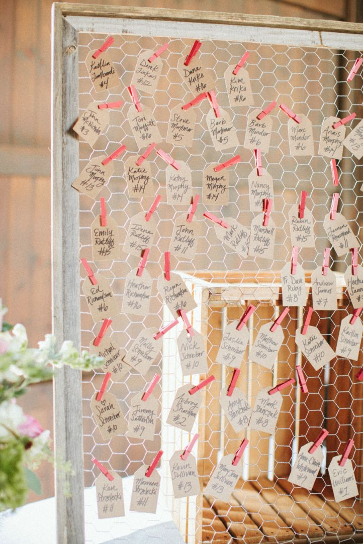 Unique wedding ideas on a budget – Escort Card Display Ideas