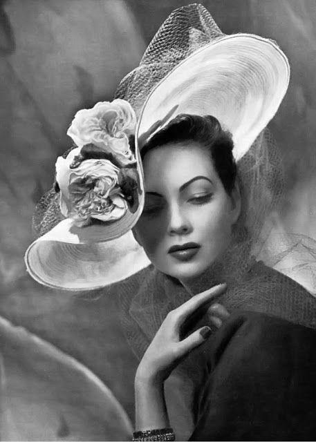 Vintage ladies black feather hat 1950 womans headwear