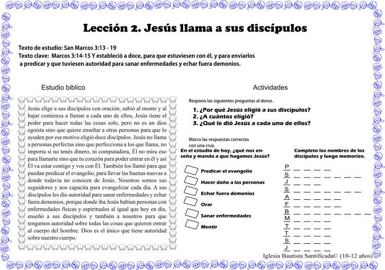 Leccion 2 Jesus Llama A Sus Discipulos Jesus Y Sus Discipulos