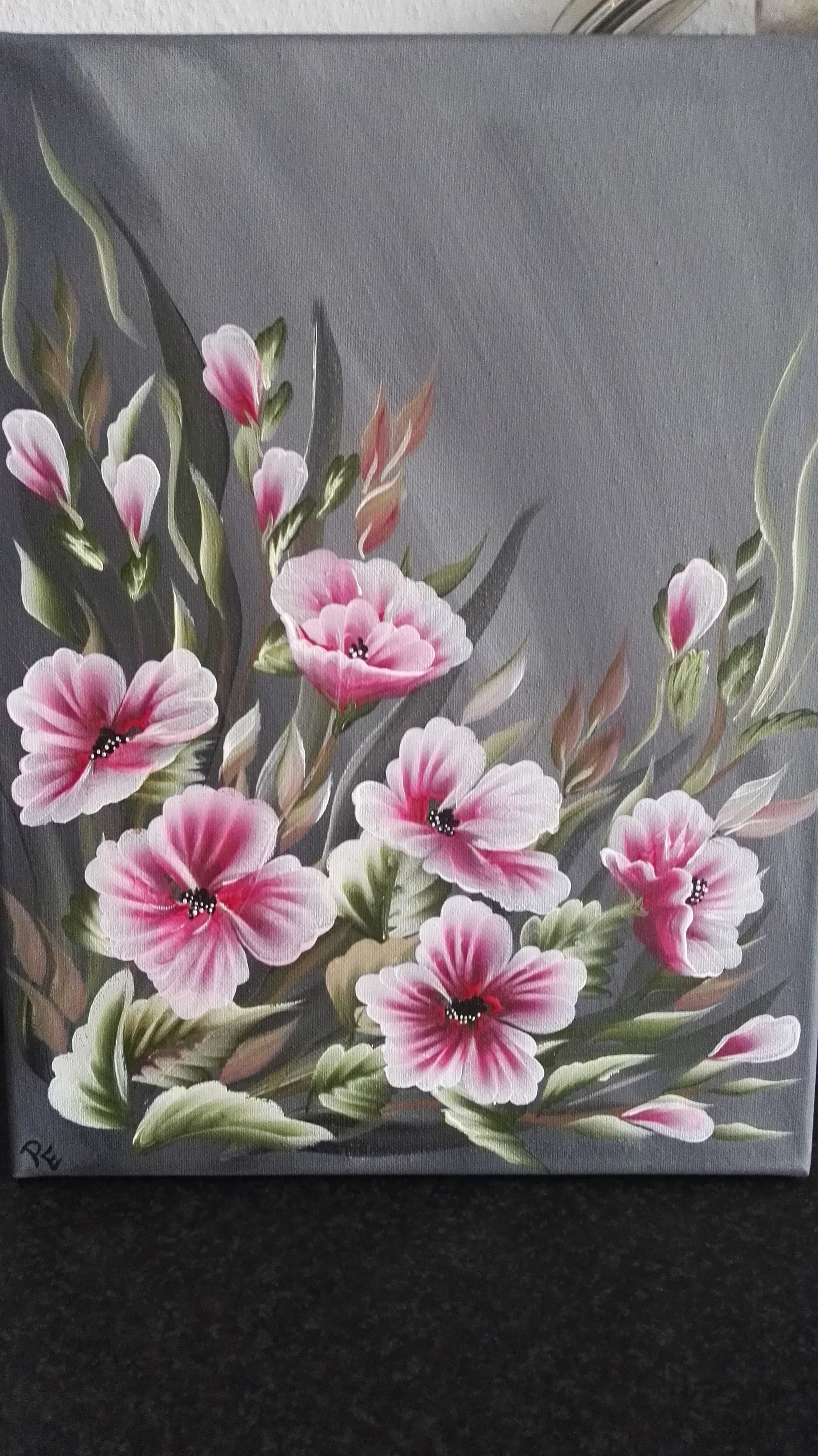 one stroke | paint acrylic | One stroke, Acrylic painting