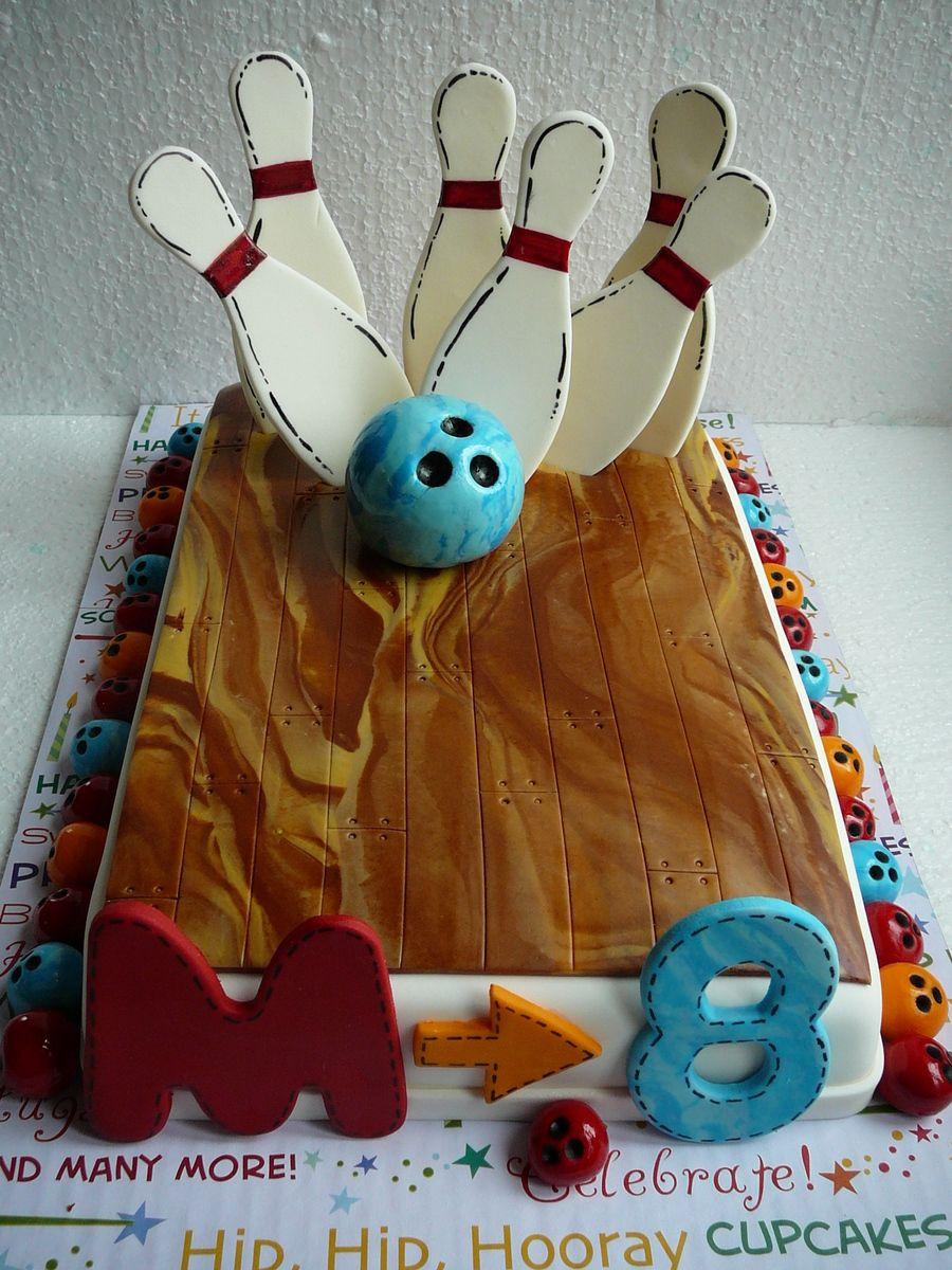 Bowling alley bowling cake boy birthday cake chocolate