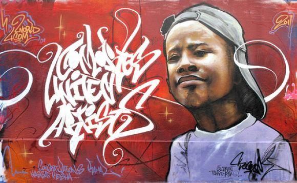 Graffiti by Comorian artist, Socrome.
