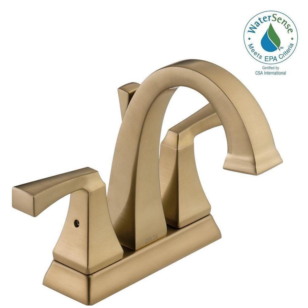 Delta Dryden 4 In Centerset 2 Handle Bathroom Faucet With Metal