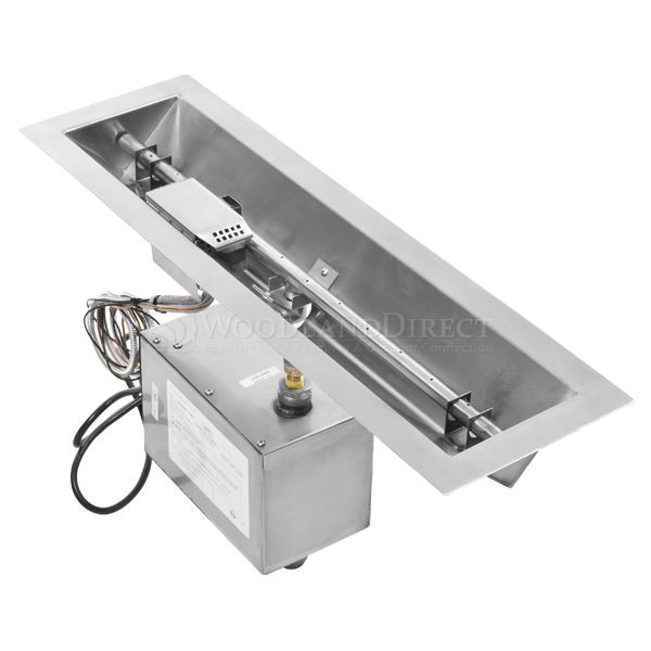 Linear Trough Gas Fire Pit Insert - 24