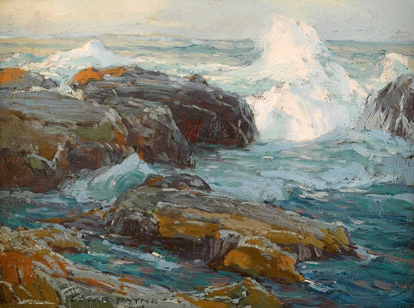 Edgar Alwun Payne (USA 1882-1947)  Sea and Rocks no. 20 Laguna